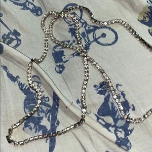 Rare mineral glass chain